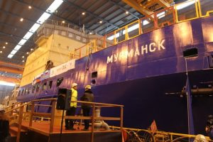 """На финской верфи недавно был построен ледокол """"Мурманск"""""""