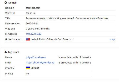 А именно - taras-ua.com, персональный сайт «монстра» (как он себя считает) черного пиара Тараса Чорноивана.